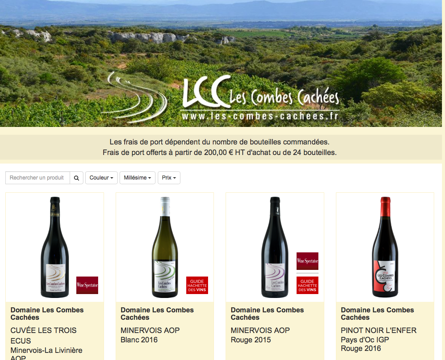A brand new on line store: Happy new year from Les Combes Cachées