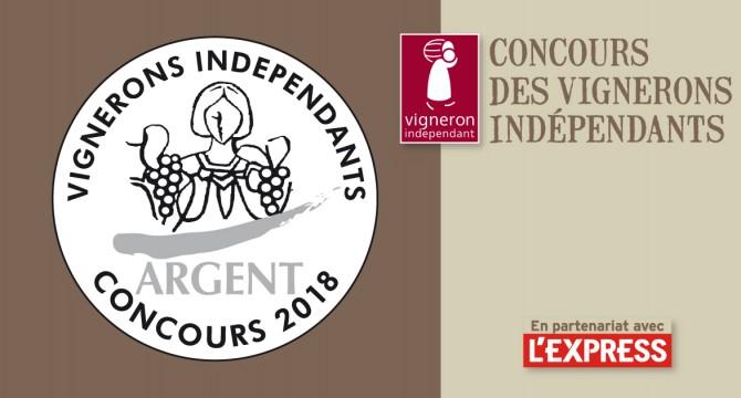 Image result for argent médaille vigneron indépendant 2018