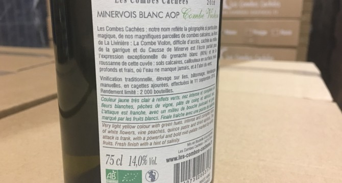 2018 vintage: Organic Label